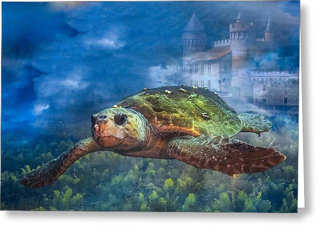Fantasy Creature Photographs Greeting Cards - Atlantis Greeting Card by Debra and Dave Vanderlaan