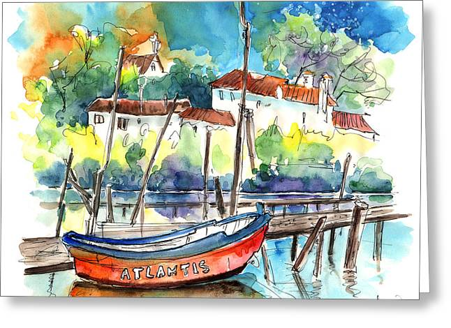 Atlantis Drawings Greeting Cards - Atlantis in Comporta in Portugal Greeting Card by Miki De Goodaboom