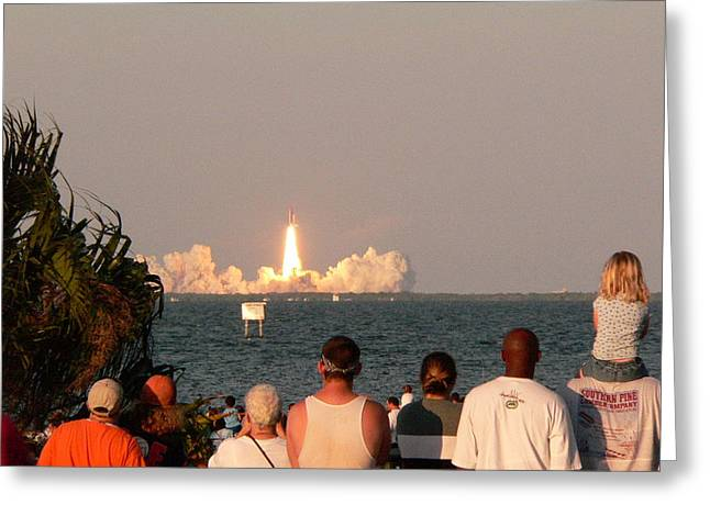 Atlantis Greeting Cards - Atlantis Shuttle Launch Greeting Card by David Bearden