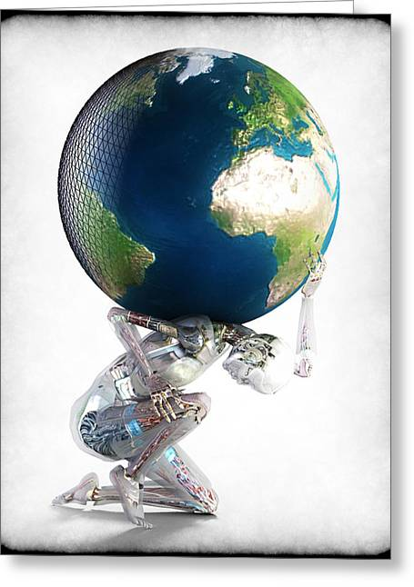 Frederico Borges Digital Greeting Cards - Atlas 3000 Greeting Card by Frederico Borges