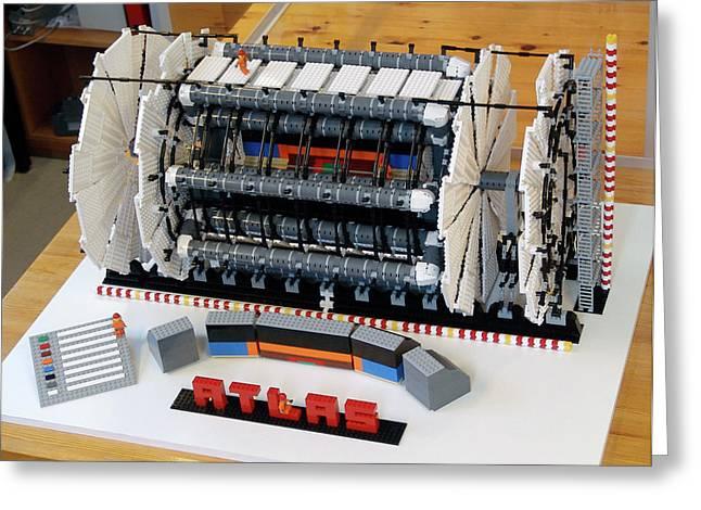 Atlas Detector At Cern Greeting Card by Cern