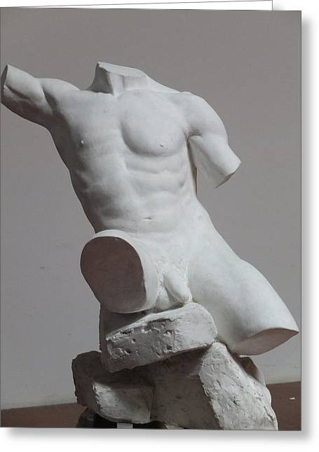 Torso Sculptures Greeting Cards - Atlas Greeting Card by Frank Rekrut