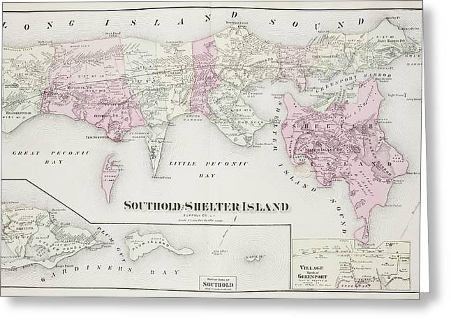 Atlas Of Long Island Greeting Card by British Library