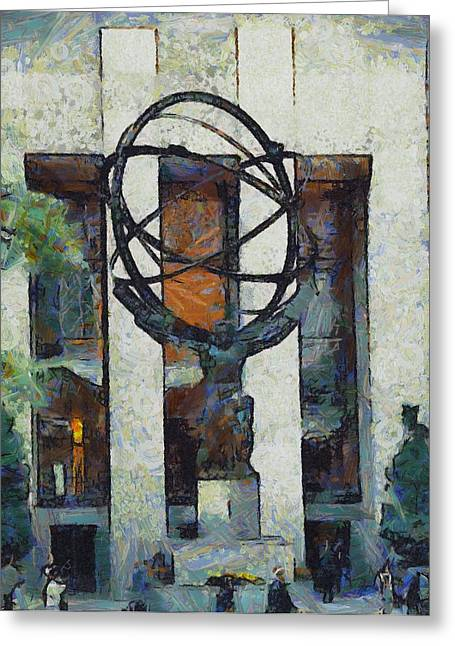 New Mind Greeting Cards - Atlas Statue Rockefeller Center Greeting Card by Dan Sproul