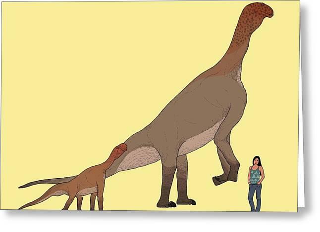 Atlasaurus Dinosaur Greeting Card by Nemo Ramjet
