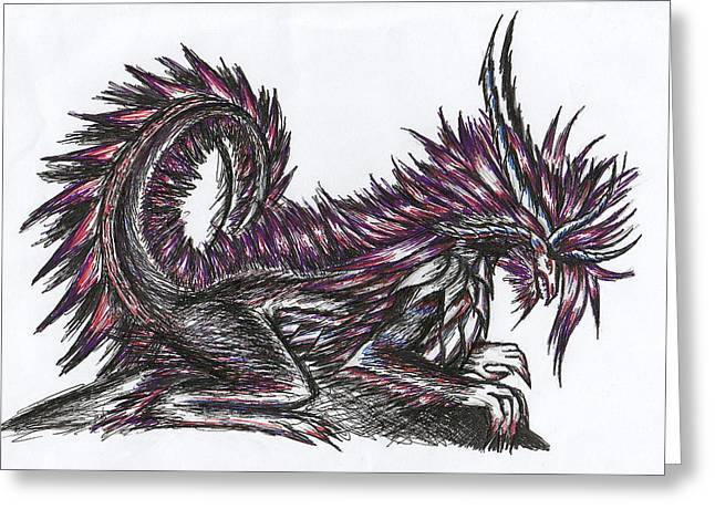 Shawn Dall Greeting Cards - Atma Weapon Catoblepas Fusion Greeting Card by Shawn Dall