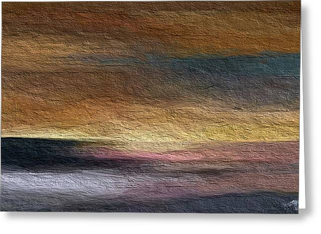 Seascape Art Greeting Cards - Atmosphere Greeting Card by Anthony Fishburne