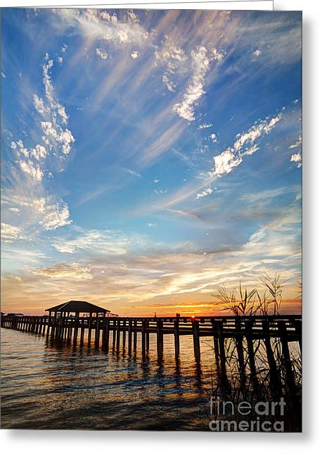 Mississippi Gulf Coast Greeting Cards - Atmospheric Greeting Card by Joan McCool
