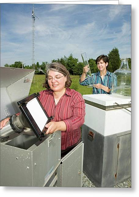 Atmospheric Pollutant Research Greeting Card by Peggy Greb/us Department Of Agriculture