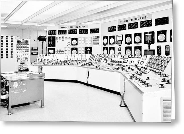 Control Room Greeting Cards - Atomic Power Station Greeting Card by Benjamin Yeager
