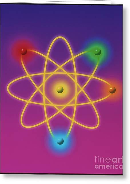 Atomic Structure Greeting Cards - Atomic Structure Greeting Card by M. Kulyk