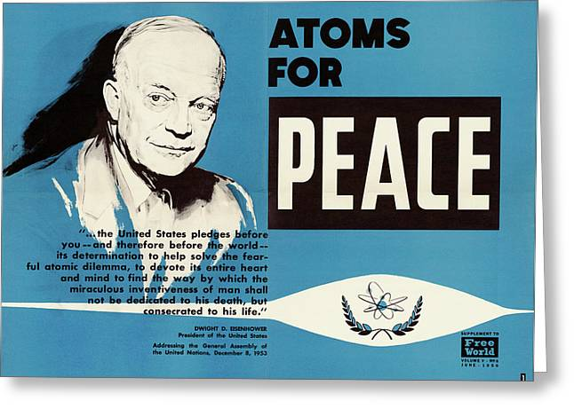 Atoms For Peace Speech Greeting Card by Us National Archives