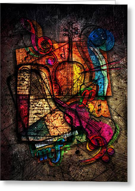 Bizarre Digital Art Greeting Cards - Atonal Symphony Greeting Card by Gary Bodnar