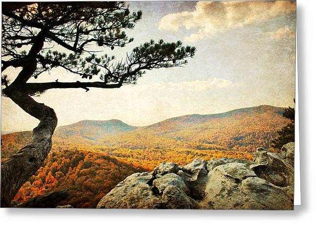 Atop The Rock Greeting Card by Kelly Nowak