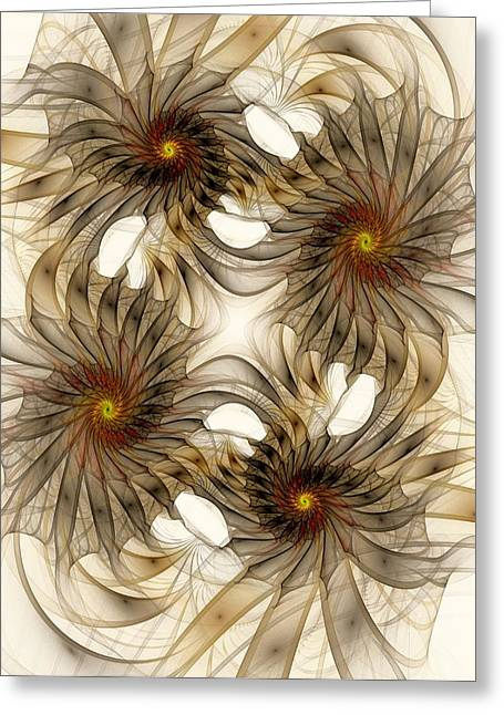Distortion Mixed Media Greeting Cards - Attachment Greeting Card by Anastasiya Malakhova
