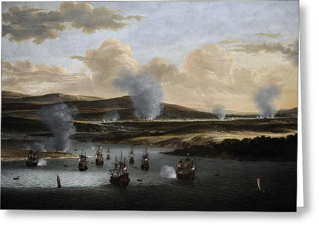 17th Greeting Cards - Attack On Chatham, C. 1668, By Willem Schellinks 1627?-1678 Greeting Card by Bridgeman Images