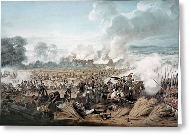 Battlefields Greeting Cards - Attack On The British Squares By French Greeting Card by Denis Dighton