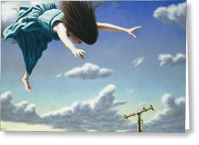 Dreams Paintings Greeting Cards - Attempts at Flight #19 Greeting Card by David Palmer