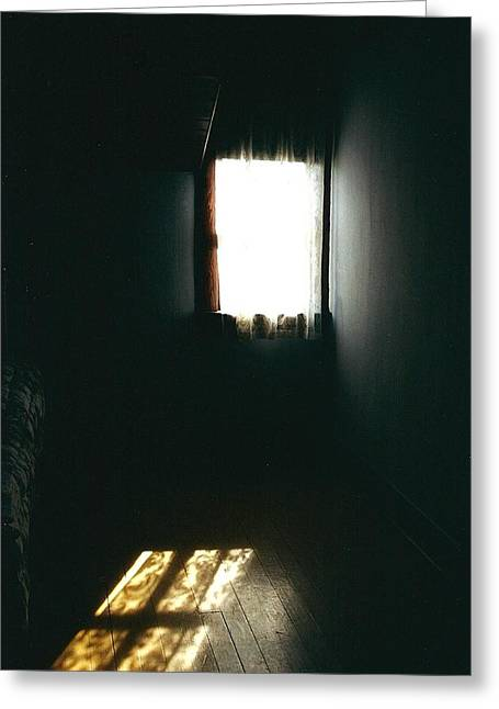 Serene Greeting Cards - Attic Light Greeting Card by Shirley Sirois