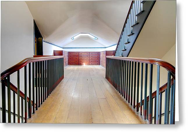 Attic Staircase Greeting Card by Alexey Stiop