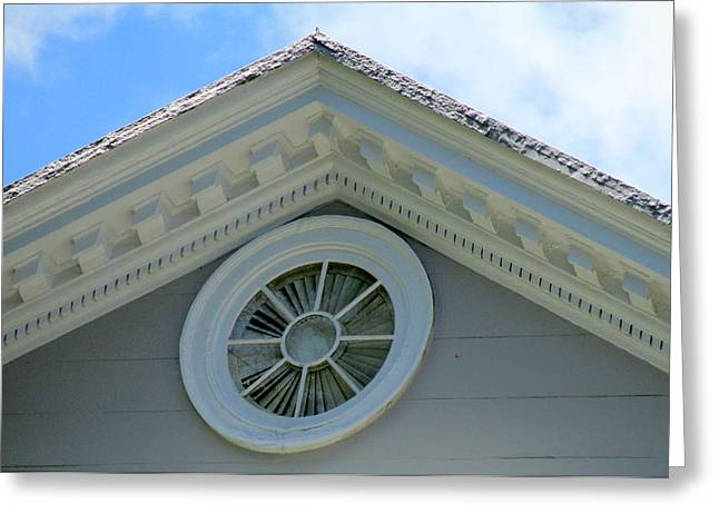The Battery Greeting Cards - Attic Window Greeting Card by Randall Weidner