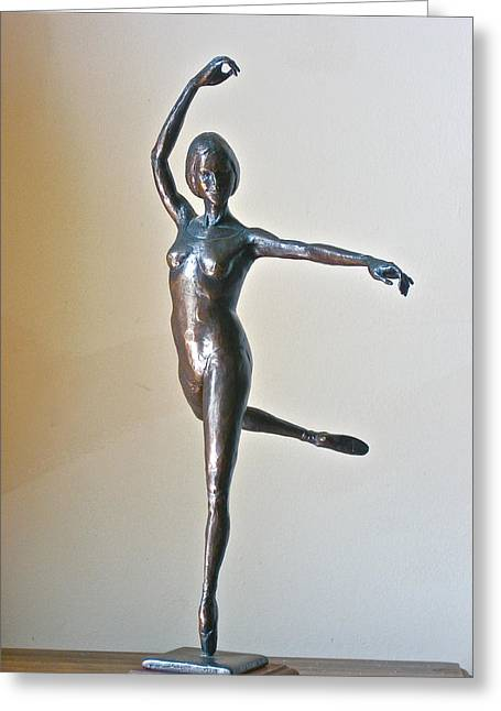 Young Woman Sculptures Greeting Cards - Attitude Greeting Card by Deborah Dendler
