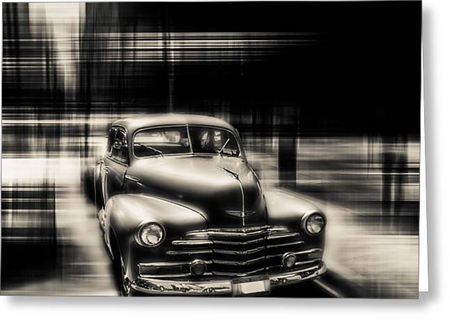 attracting curves III gray Greeting Card by Hannes Cmarits