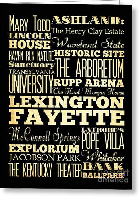 Mary Todd Lincoln Greeting Cards - Attractions and Famous Places of Lexington Fayettte Kentucky Greeting Card by Joy House Studio