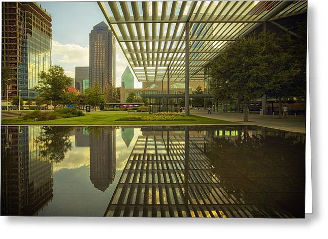 Lovely Pond Greeting Cards - Attractive Entrance of the Winspear Opera House Greeting Card by Mountain Dreams