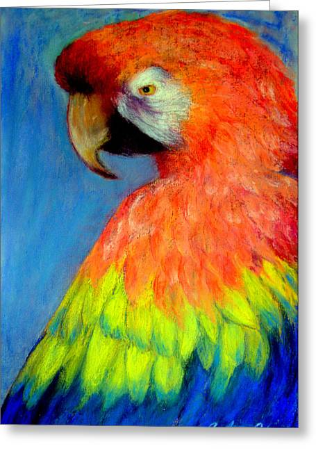 Exotic Pastels Greeting Cards - Attitude  Pastel Greeting Card by Antonia Citrino