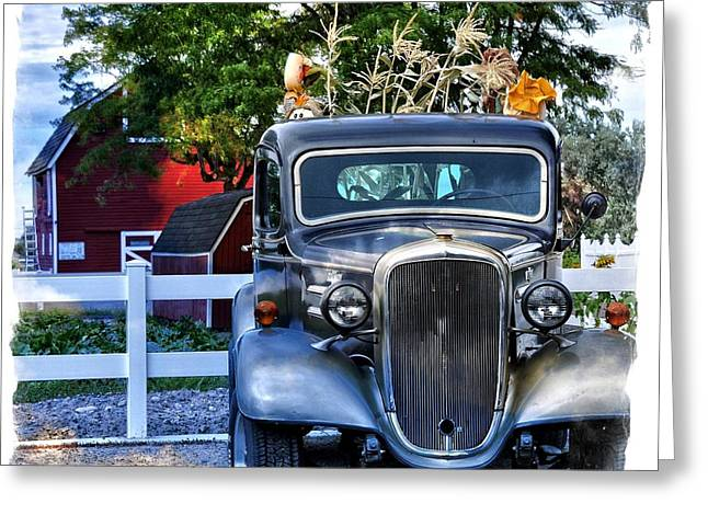 Truck Grill. Fence Greeting Cards - Autumn Days Now and Forever Greeting Card by Image Takers Photography LLC - Laura Morgan