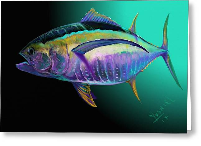 Shark Digital Art Greeting Cards - Atun Greeting Card by Yusniel Santos
