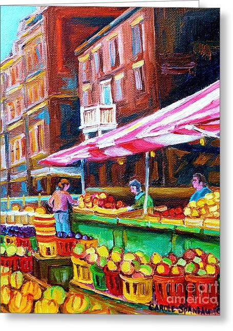 Atwater Greeting Cards - Atwater Market   Greeting Card by Carole Spandau
