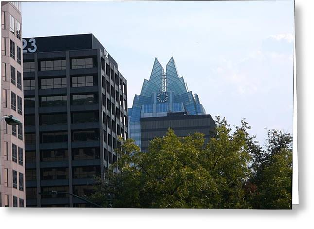 Frost Bank Building Greeting Cards - Atx Frost Greeting Card by Brandy and Anthony Art for Life