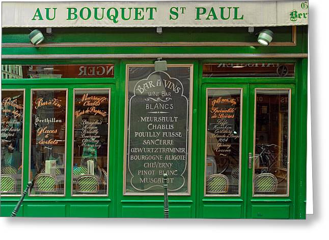 Au Bouquet St. Paul Greeting Card by Matthew Bamberg