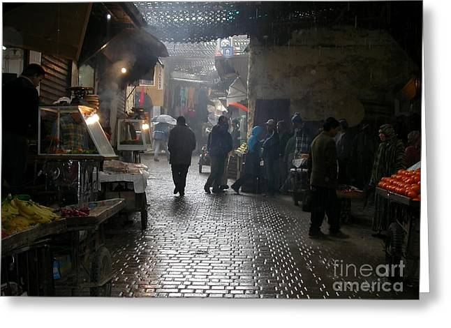 Marrakech Greeting Cards - Au souk Greeting Card by Sophie Vigneault