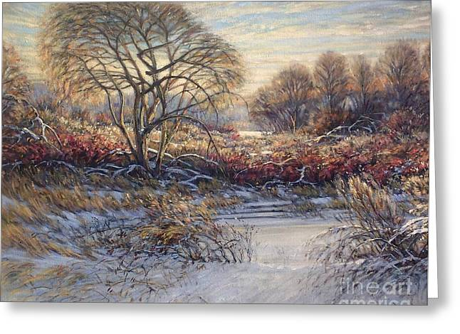 Artiste Quebecois Du Canada Greeting Cards - Aube by Morinart Greeting Card by Pierre Morin