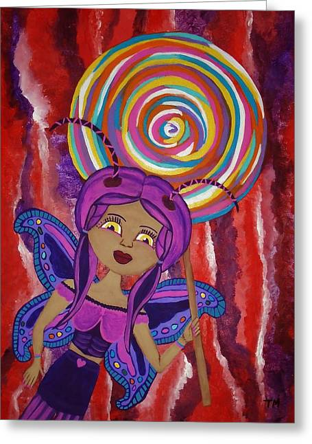 Hallucination Drawings Greeting Cards - Aubrey Agaricwitch Fairy Greeting Card by Tisha McGee