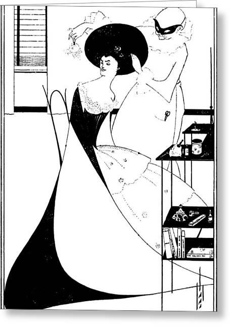 Aubrey Greeting Cards - Aubrey Beardsley Salome Illustration Greeting Card by