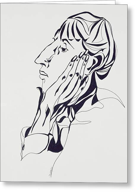 Featured Portraits Greeting Cards - Aubrey Beardsley Greeting Card by Stevie Taylor