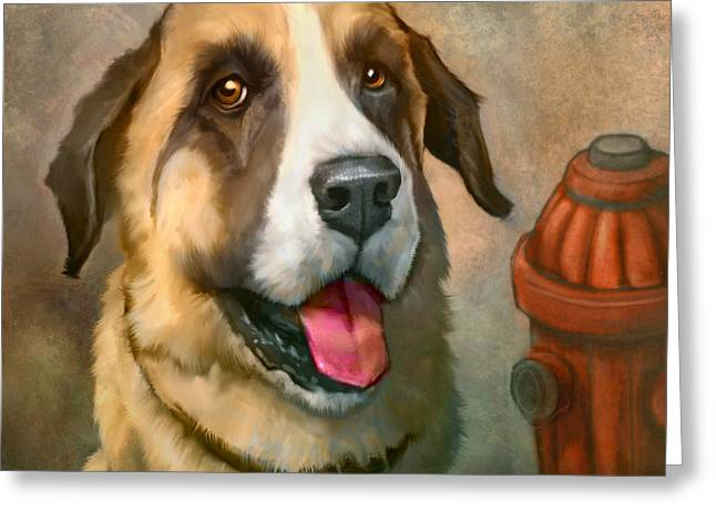 Dog Portraits Greeting Cards - Aubrey Greeting Card by Sean ODaniels