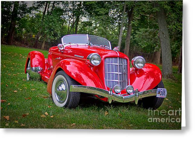 851 Greeting Cards - Auburn 851 Speedster Greeting Card by Denny Beck