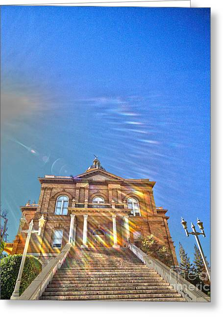 Historic Site Greeting Cards - Auburn Courthouse 2 Greeting Card by Cheryl Young