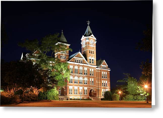 Auburn University Greeting Cards - Auburn Nights Greeting Card by JC Findley