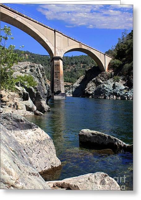 American Bridge Company Greeting Cards - Auburn No Hands Quarry Bridge Greeting Card by Patrick Witz