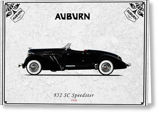 Auburn Greeting Cards - Auburn Speedster 1936 Greeting Card by Mark Rogan