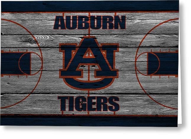 Dunk Photographs Greeting Cards - Auburn Tigers Greeting Card by Joe Hamilton