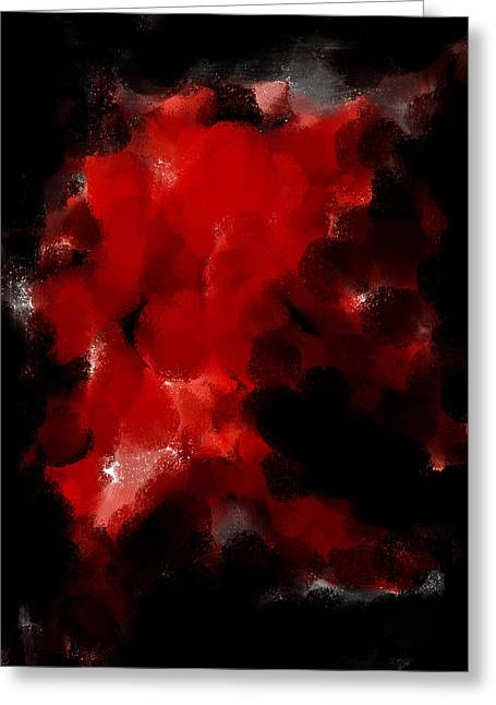 Abstract Digital Drawings Greeting Cards - Auction F W 134  Greeting Card by Sir Josef  Putsche