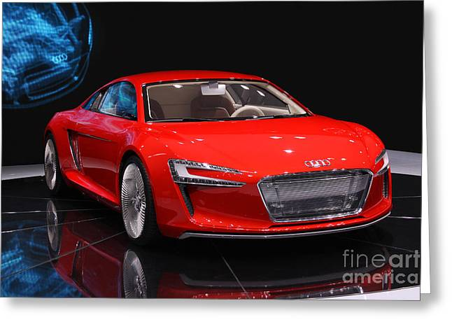 Tron Greeting Cards - Audi e tron Greeting Card by Thomas Wolf