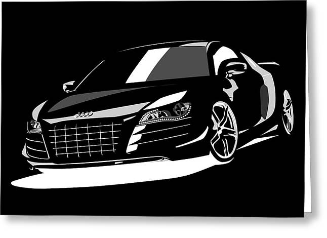 Audi R8 Greeting Card by Michael Tompsett